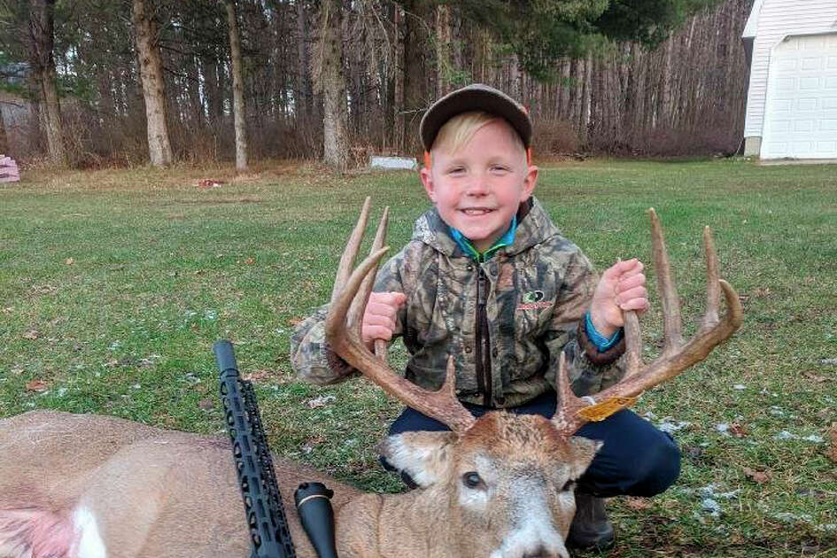 Lee Nix, of Paris, is pictured with his 10-point buck which he shot on Nov. 17.