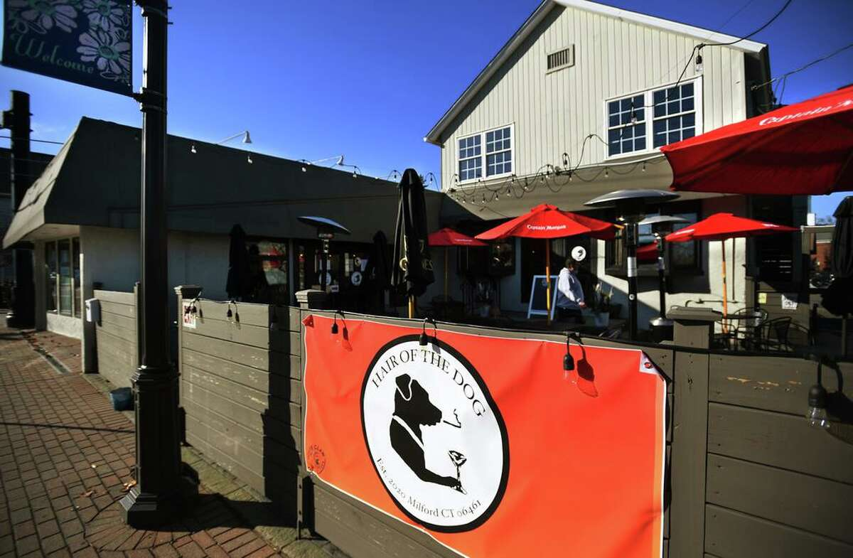 The recently opened Hair of the Dog bar and grill at 128 Bridgeport Avenue in Milford, Conn. on Tuesday, November 24, 2020.