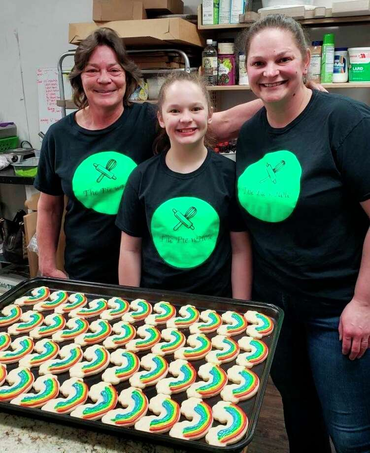 (From left) Doni Cassidy, Maddy Stricker and Niki Stricker work hard every day all year to bring a variety of cakes, cookies and pastries to the Big Rapids area. (Pioneer photo/Taylor Fussman)