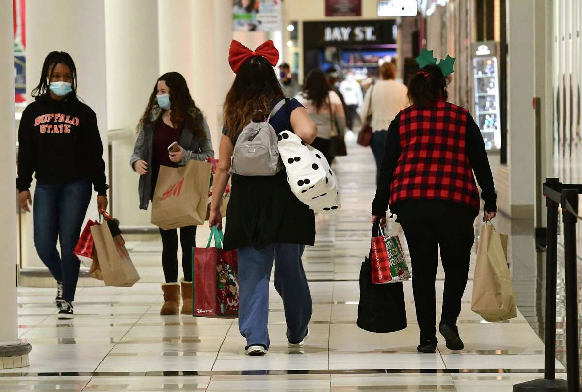Black Friday holiday shoppers were fewer at Crossgates Mall due to the pandemic on Wednesday, Nov. 27, 2020 in Guilderland, N.Y. (Lori Van Buren/Times Union)