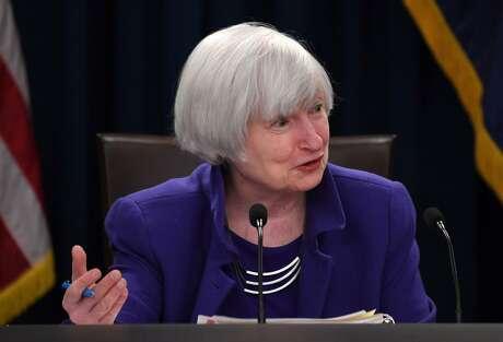 U.S. Federal Reserve Chair Janet Yellen speaks during a news conference on Dec. 13, 2017 in Washington D.C. (Yin Bogu/Xinhua/Zuma Press/TNS)