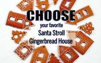 Santa Stroll gingerbread house contest