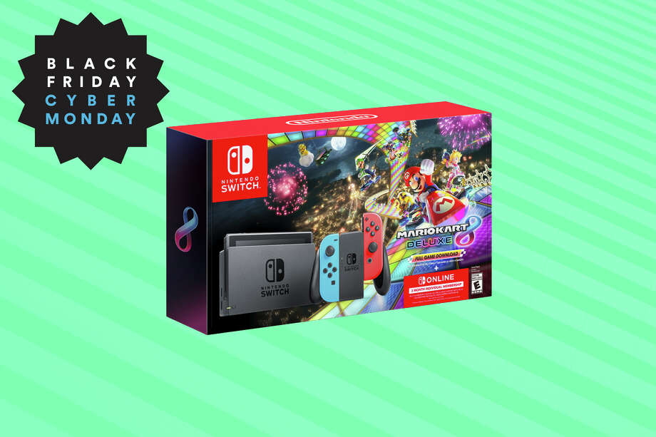 "Nintendo Switch bundle with ""Mario Kart 8 Deluxe"" and 3 months of Nintendo Switch Online for $299 at Amazon Photo: Nintendo/Hearst Newspapers"