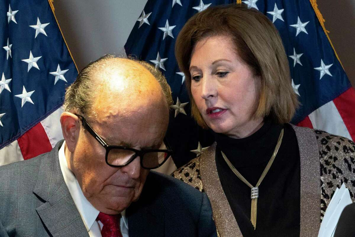 Attorney Sidney Powell has painted a conspiracy so vast that it seems to have embarrassed Rudy Giuliani. But it hit all the right notes for the president's fans.