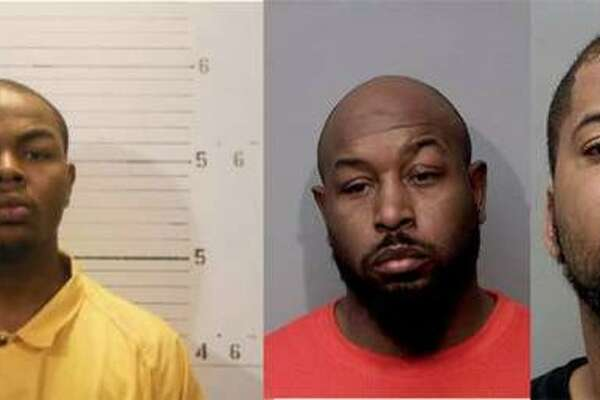 (Left to right) George Lacey, 25, Demandrell Davis, 40, and Adisa Smith, 27, all of Belleville, are all charged in the home invasion and shooting of 23-year-old Darian A. Woods.