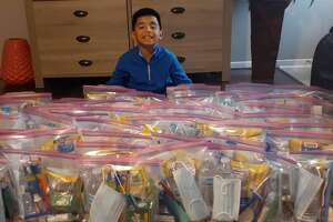 """This holiday, one creative gift has touched homeless Houstonians, and it came straight from the generous heart of a 7-year-old Dylan Virtudazo. When Virtudazo was given money for his birthday, he decided to use it to help create """"blessing bags"""" for Houston's homeless."""