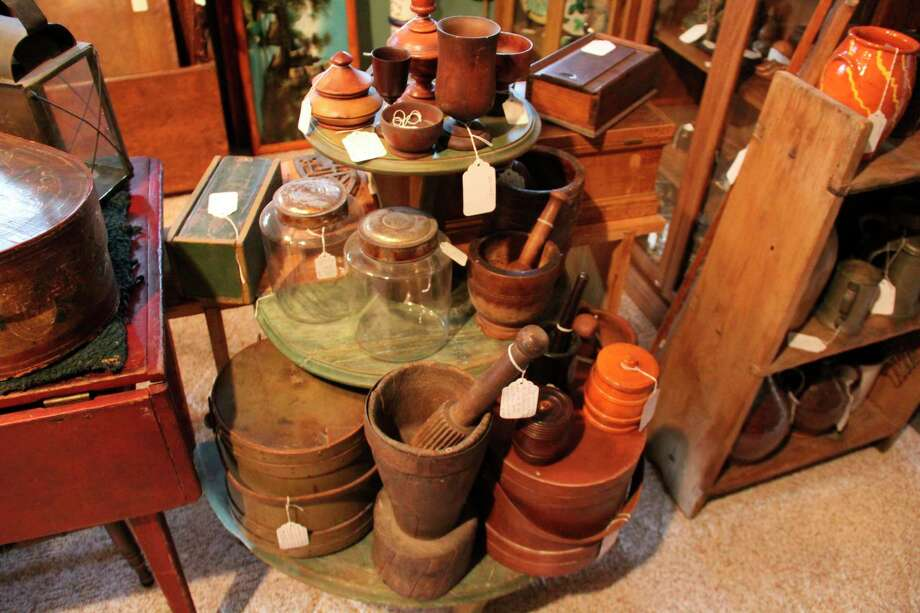 Some of the items available at Forget-Me-Not Antiques in Bad Axe. (Robert Creenan/Huron Daily Tribune)