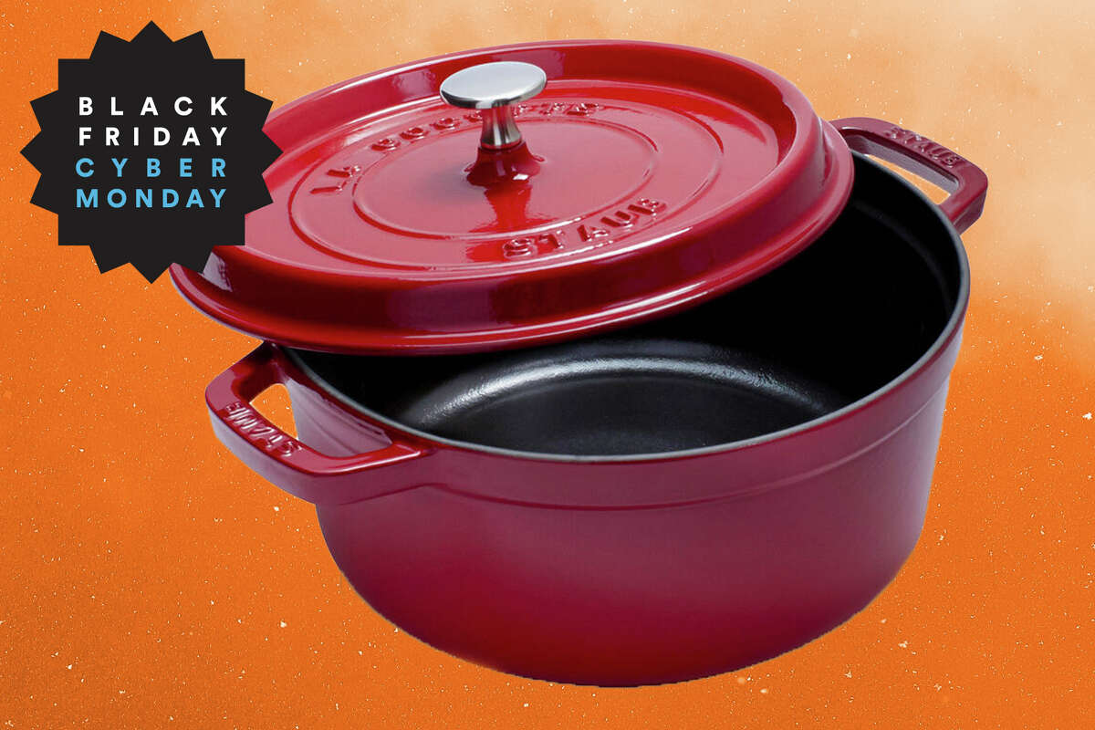 Staub round 4 qt. cocette for $99.97 at Sur La Table.