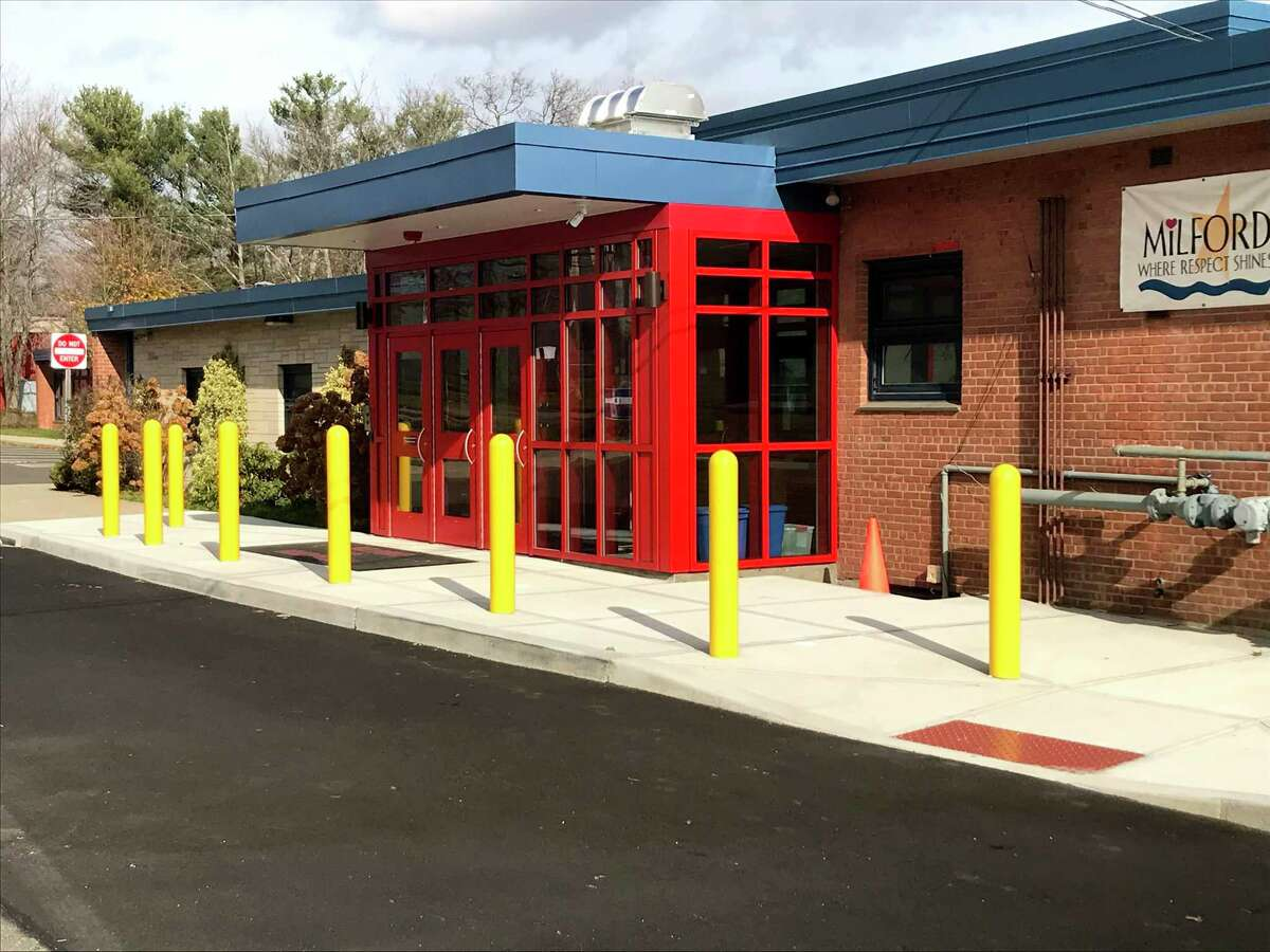 Meadowside Elementary School was one of five Milford schools that received security upgrades over the summer.