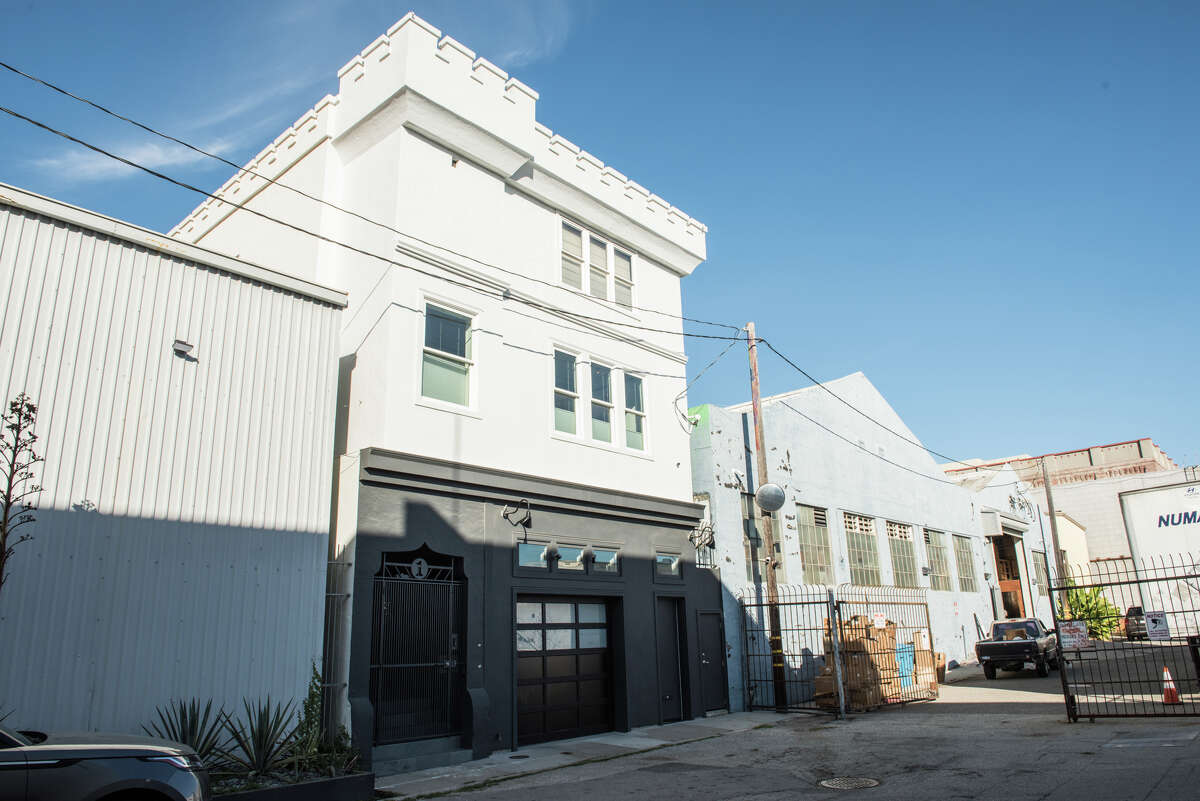 1 Enterprise St. formerly housed Enterprise Brewery's offices and still features the original rooftop parapets.