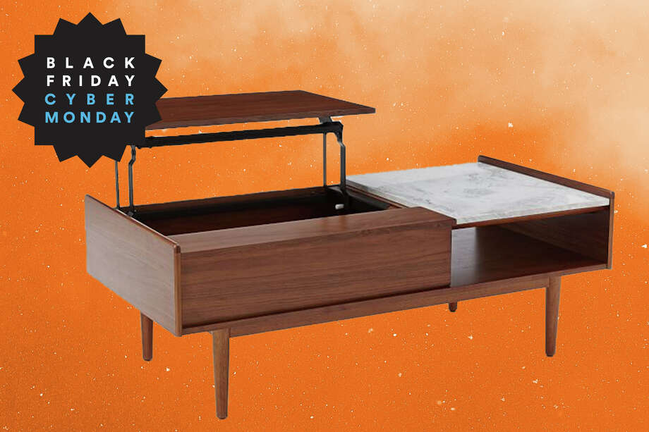 Mid Century Pop Up Storage Coffee Table for $489.30 at West Elm. Photo: West Elm