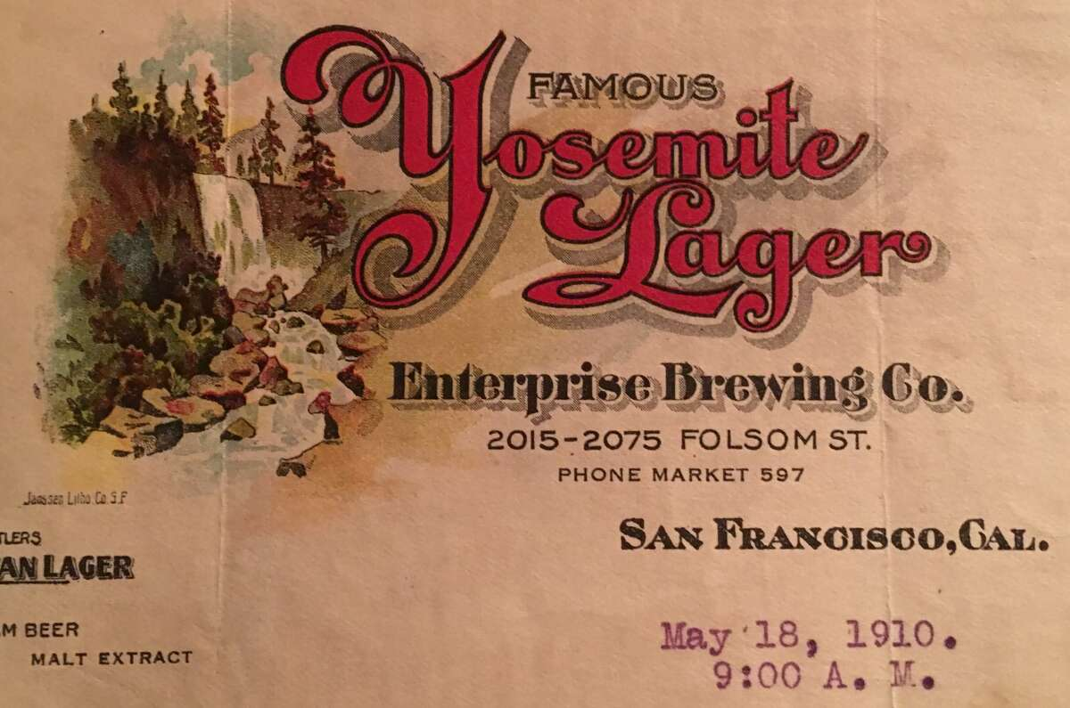 A look at some of the pieces from San Francisco beer historian Thomas Jacobs' personal Enterprise Brewing collection.