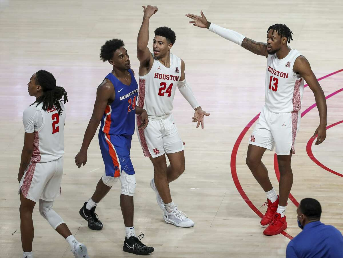 UH moved up one spot in the Associated Press basketball poll released Monday.