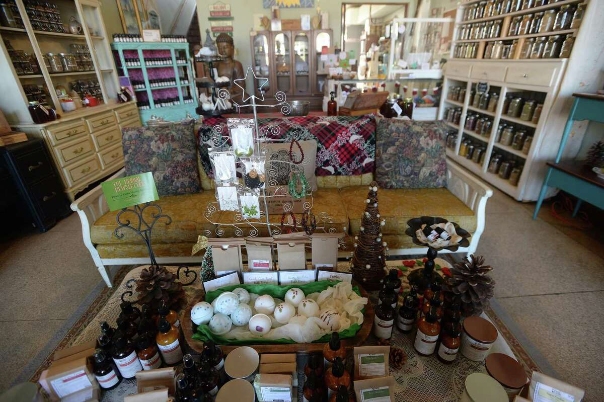 The holiday decor and gift displays are set up and ready for Small Business Saturday at Down to Earth in Beaumont. Photo taken Wednesday, November 25, 2020 Kim Brent/The Enterprise