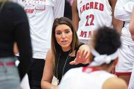 Sacred Heart coach Jessica Mannetti.