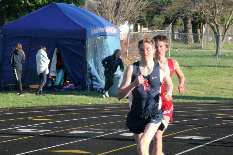 Big Rapids native Dan Hardesty, pictured during a high school race, is among the local runners in Ferris' track and field program. (Pioneer file photo)