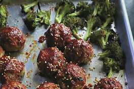 A sheetpan dinner of meatballs and broccoli comes together in short time, with no mess. (Gretchen McKay/TNS)