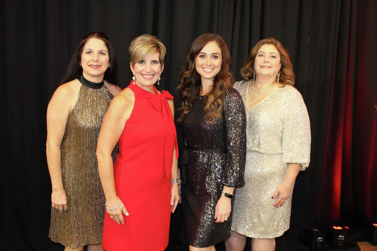 Shown here are Laura Thompson, Chair, 2020 Fire & Ice Gala; Kristin Weiss, President & CEO, Central Fort Bend Chamber; Beth Johnson, 2021 CFB Chamber Chair; and Cindy Reaves, 2020 CFB Chamber Chair.