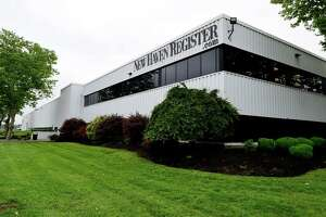 In this file photo, the New Haven Register building on Gando Drive in New Haven.