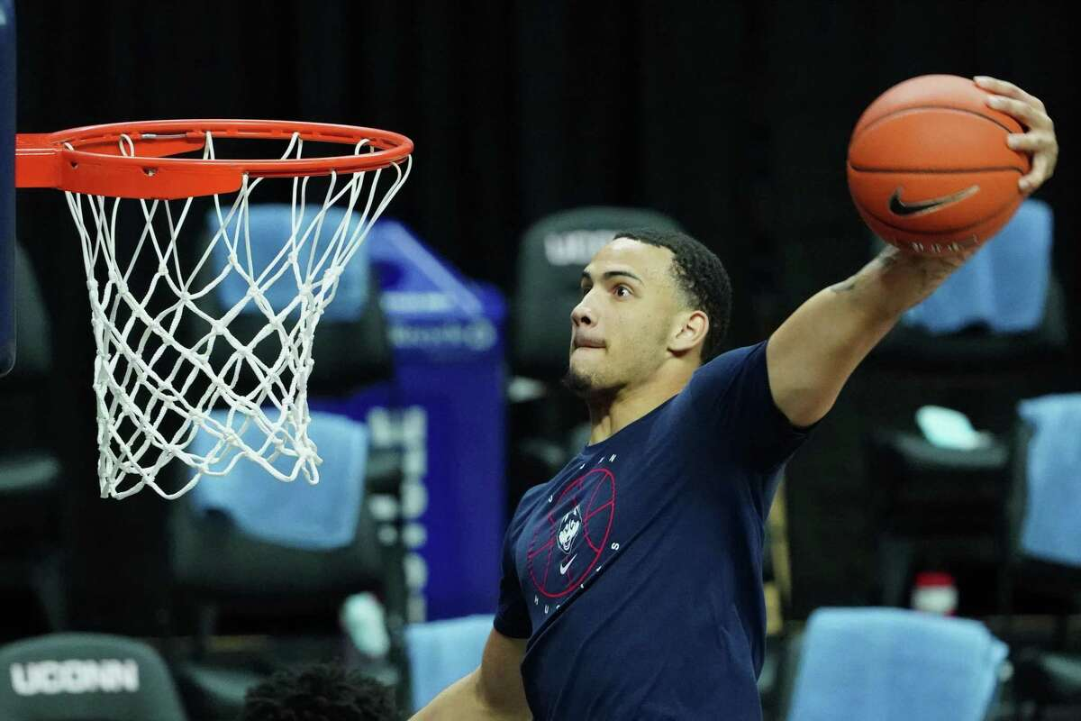 Forward Tyrese Martin is averaging 10.3 points and 9.3 rebounds for UConn.