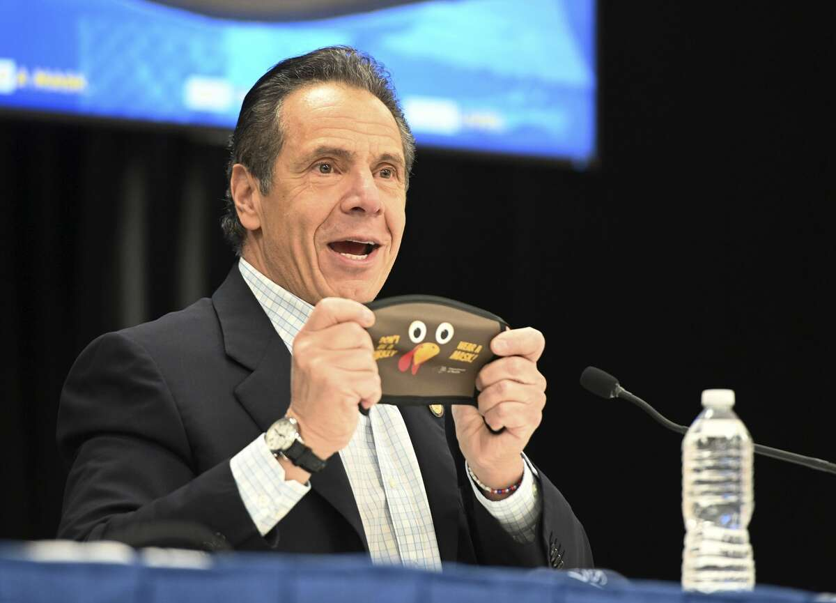Gov. Andrew Cuomo dismissed a Supreme Court ruling that didn't go his way as motiviated by ideology and partisan politics. (Kevin P. Coughlin/State of New York via AP)