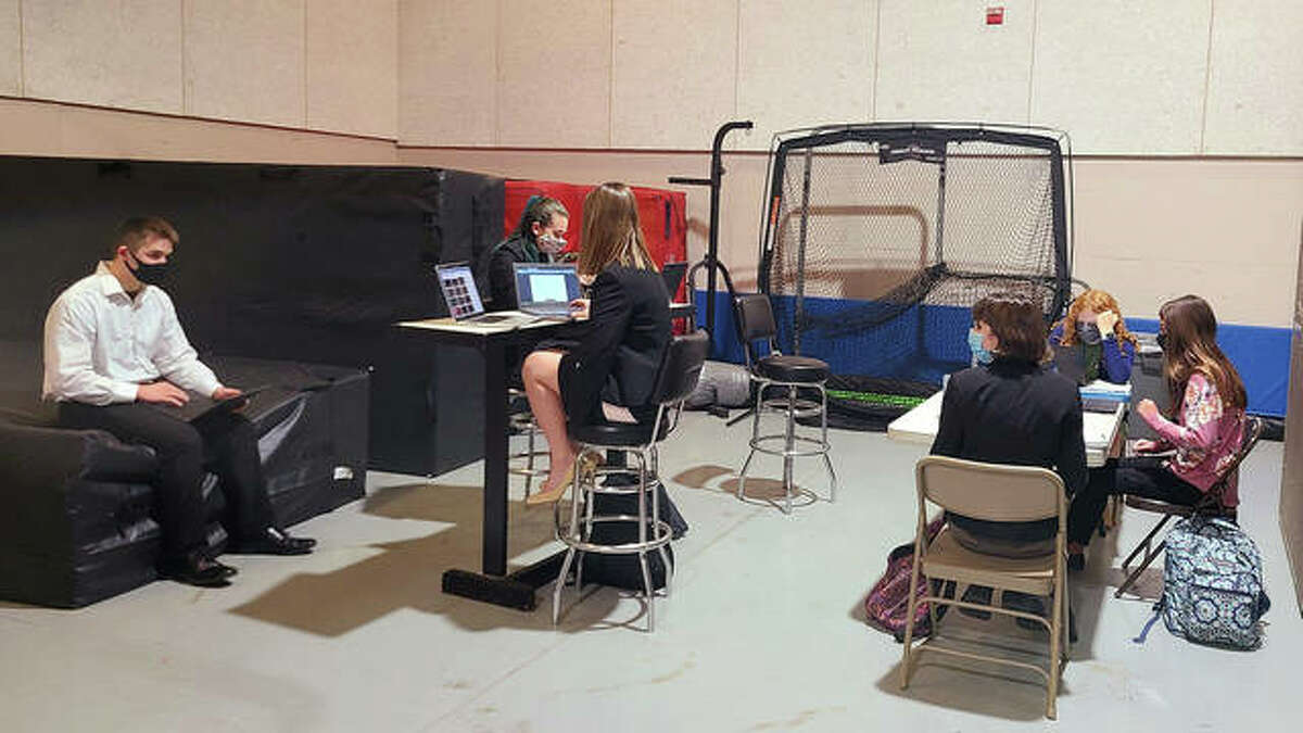 Students split into smaller groups during the two-day virtual event.