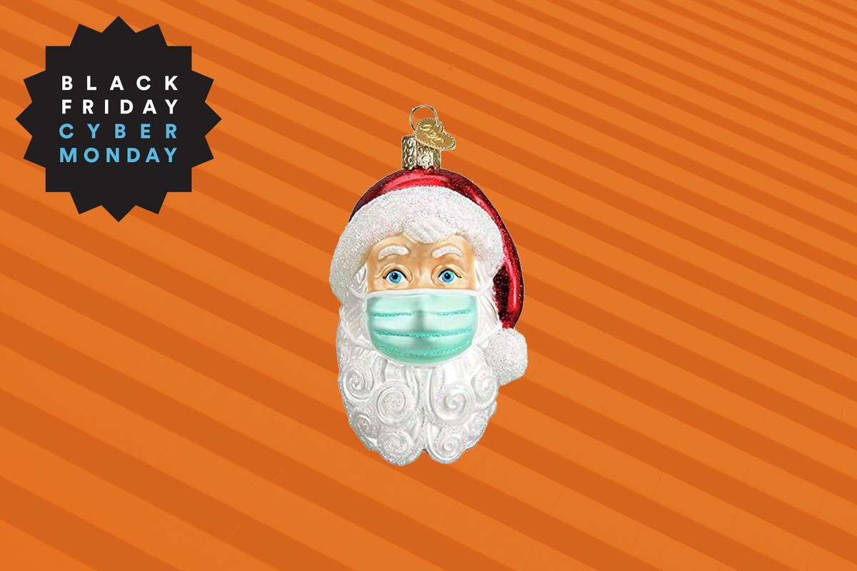 Old World Christmas Santa with Face Mask glass ornament for $6.90 on Amazon