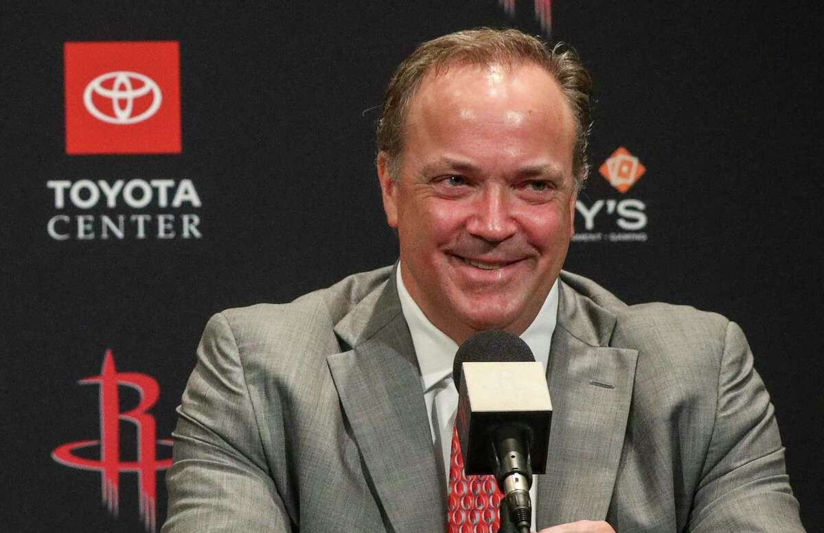 Rockets CEO, smiling at last season's media day, is preparing for a challenging 2020-21 campaign.