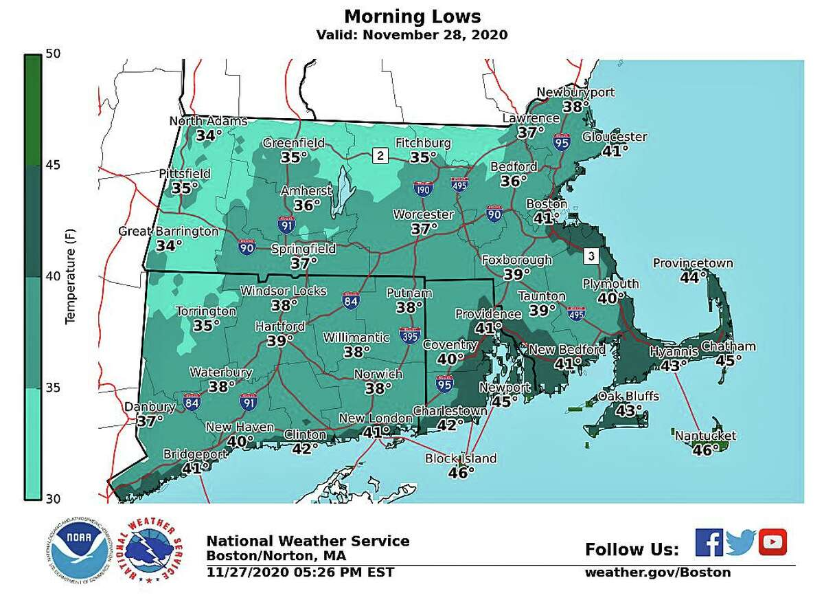 Saturday's forecast: Mostly sunny, with a high near 52. West wind 3 to 8 mph.