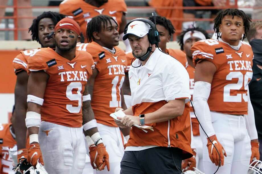 Texas coach Tom Herman is on the hot seat again after a loss to Iowa State that knocked the Longhorns out of Big 12 title contention. Photo: Eric Gay, STF / Associated Press / Copyright 2020 The Associated Press. All rights reserved.