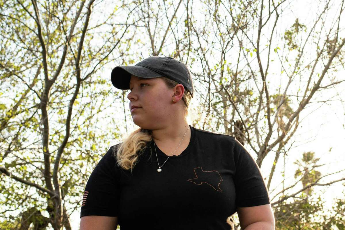 Alicia Caballero, 28, watch here children play outside. On Monday November 23, 2020. In Kingsville, Texas.