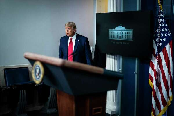 President Donald Trump arrives to speak in the press briefing room at the White House on Nov. 24.
