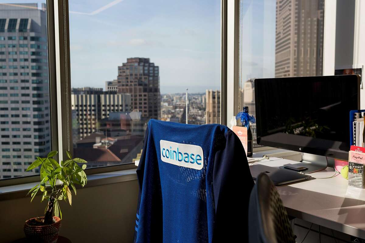 FILE - A desk at the Coinbase office in San Francisco, Dec. 1, 2017. Coinbase, the most valuable U.S. cryptocurrency company, has faced many internal complaints about discriminatory treatment. (Jason Henry/The New York Times)