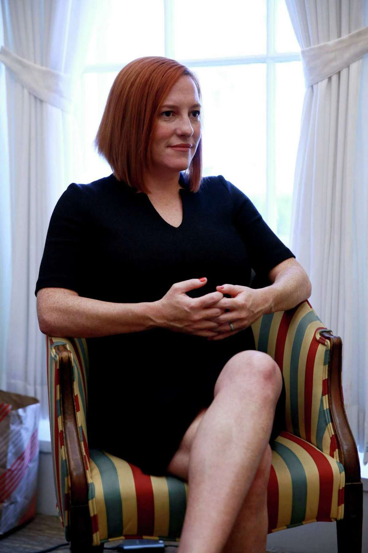 Jen Psaki, from Greenwich, Conn., is the White House communications director.