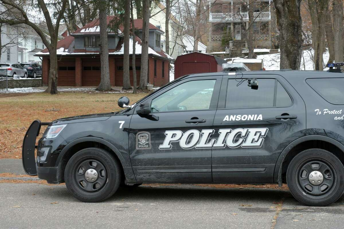 An Ansonia police vehicle.