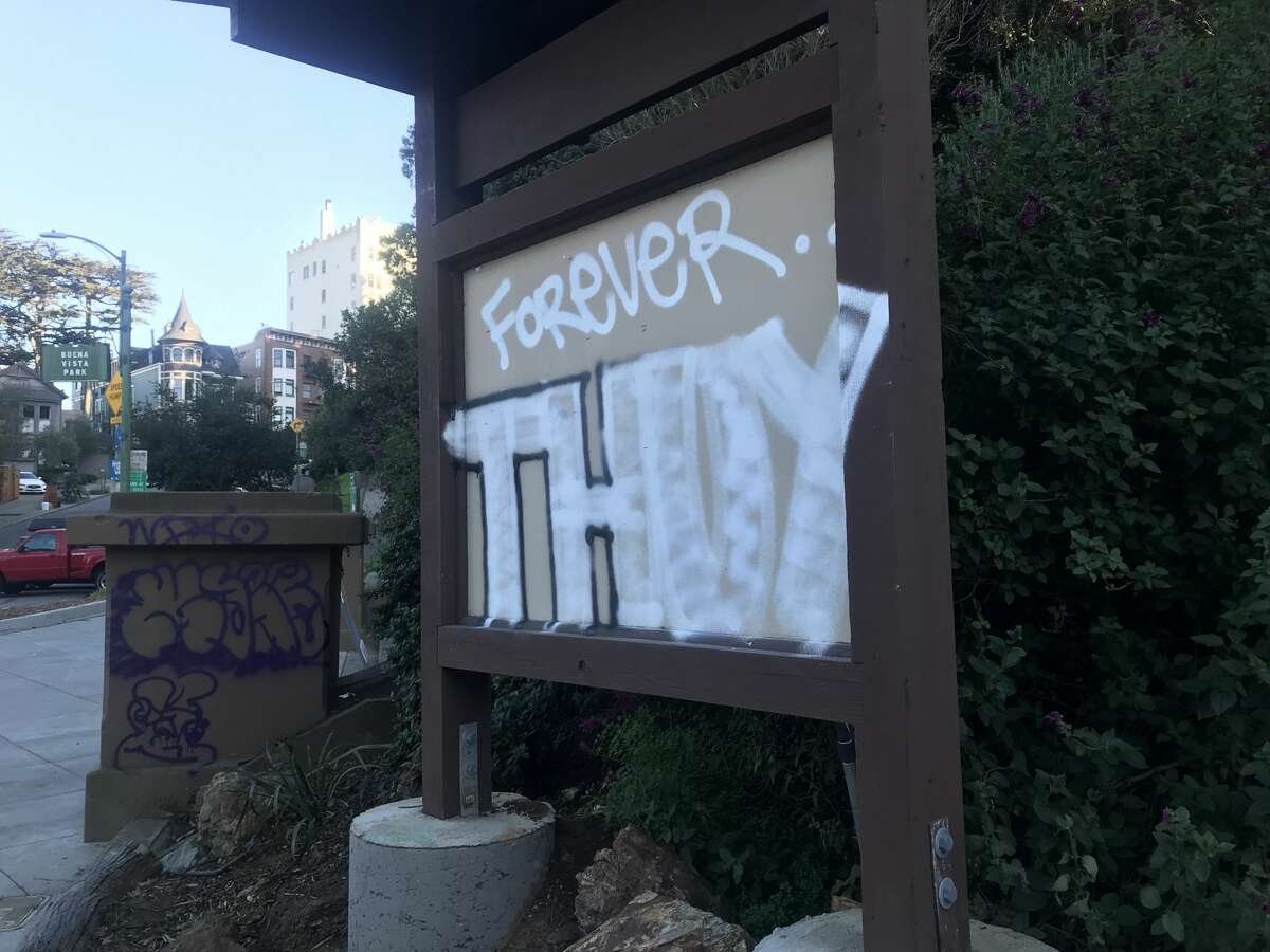 Nguyen's name was seen spray-painted on structures throughout the neighborhood.