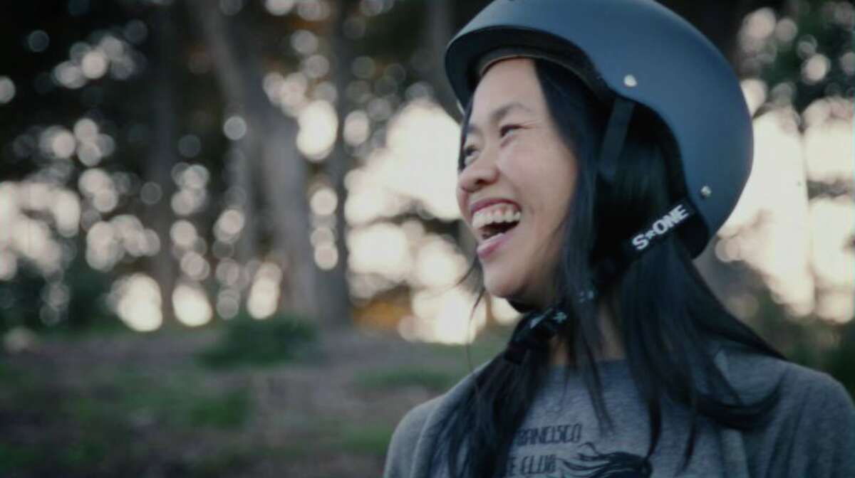 A photo of Thuy Nguyen, co-founder of SF Skate Club on Divisadero.