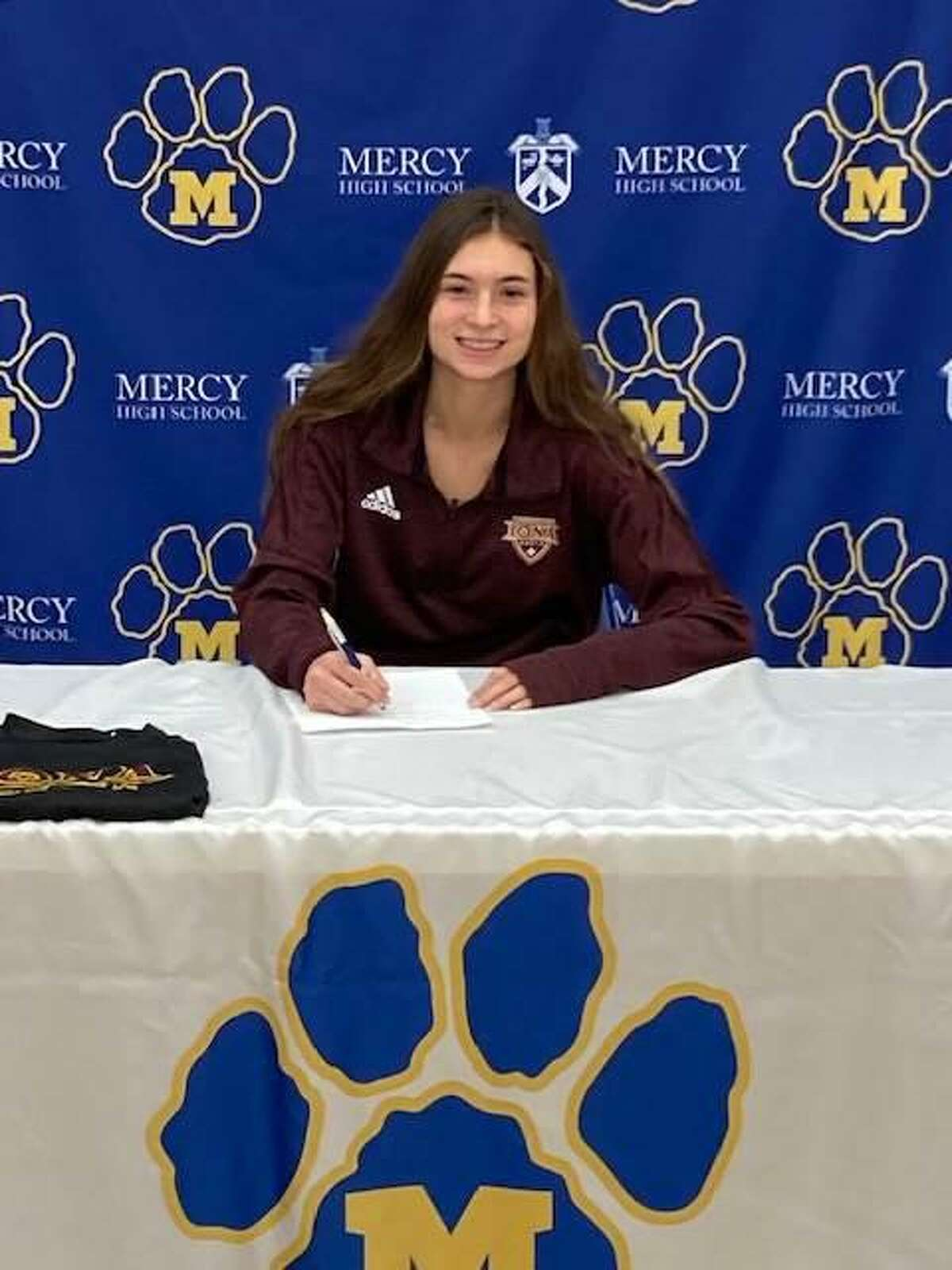Mercy's Katie Menard has signed on to play soccer and track and field at Iona College.