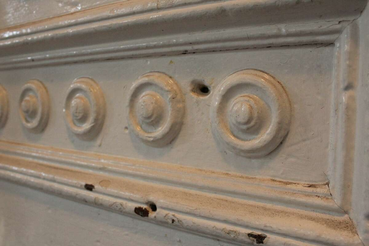 Bullet holes can still be seen at the front door of the Trocadero, a legacy of the building's wild history as a resort and a site that may have inspired a shootout or two.