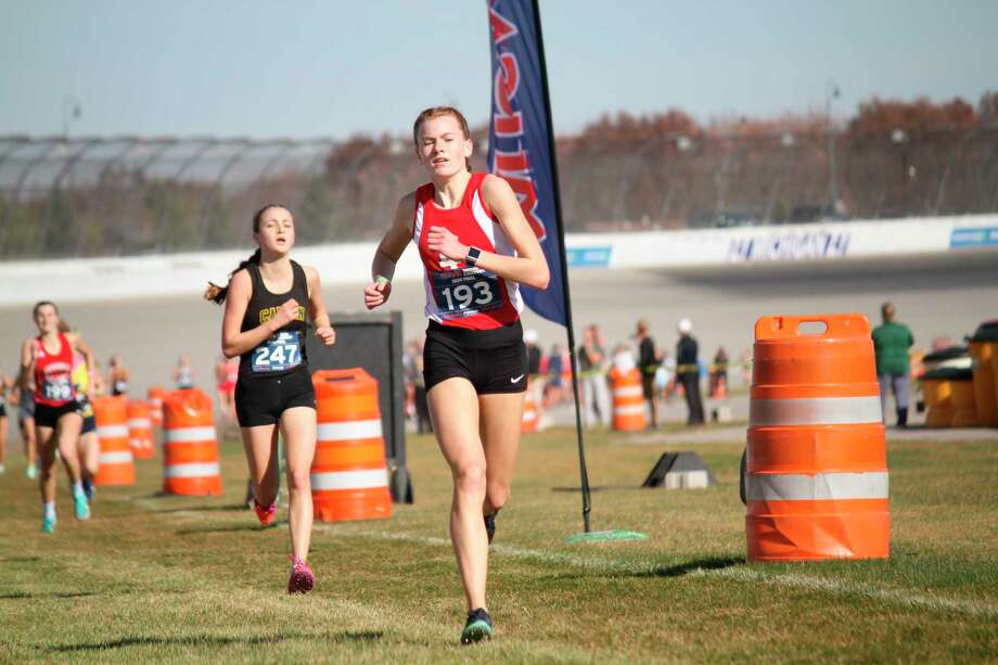 Elise Johnson added academic all-state honors to her top-40 finish at cross country state finals on Nov. 7. (File photo)