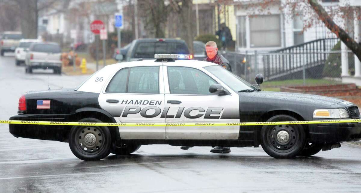 (Mara Lavitt - New Haven Register) December 29, 2013 Hamden 29 First Avenue, Hamden, the scene of police activity.