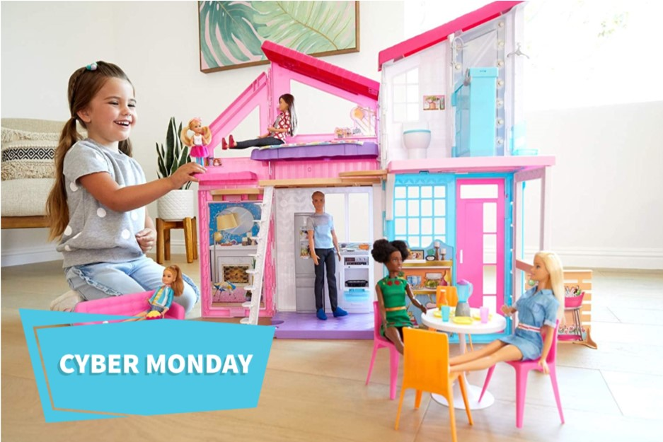 The Barbie Estate Malibu House is on sale at Walmart's Cyber Monday 2020.