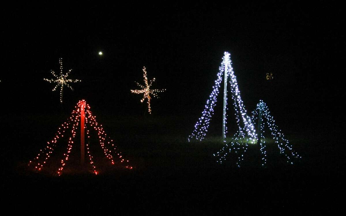 Holiday lights displays illuminate the night at Huron County Fairgrounds on Sunday night. The display will be open from 6 to 11 p.m. every Friday, Saturday and Sunday night through Dec. 26 as well as Christmas Eve.