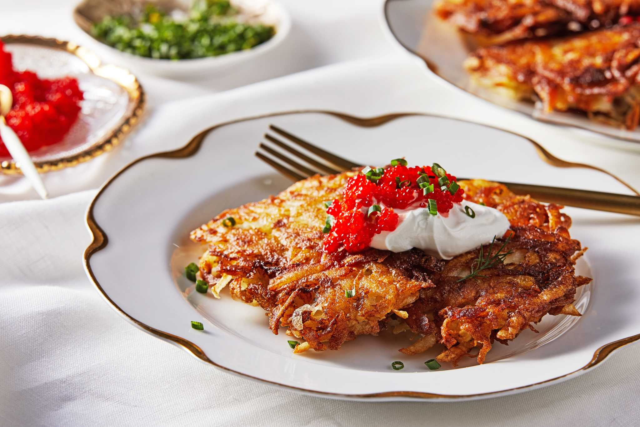 This crisp, classic potato latke recipe delivers a satisfying, celebratory crunch