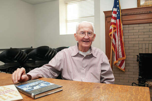 Robert Underbrink, formerly with the Blackburn College library in Carlinville, is working on his third book, a collection of letters he wrote to those at home while in the Army during World War II.