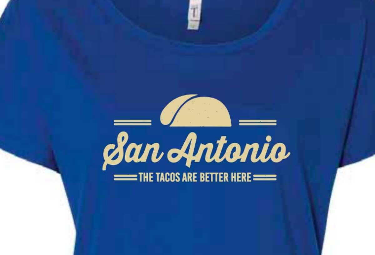 SA Flavor: The online shop donates $1 per shirt to the San Antonio Food Bank. The puro San Antonio shirt that reads,