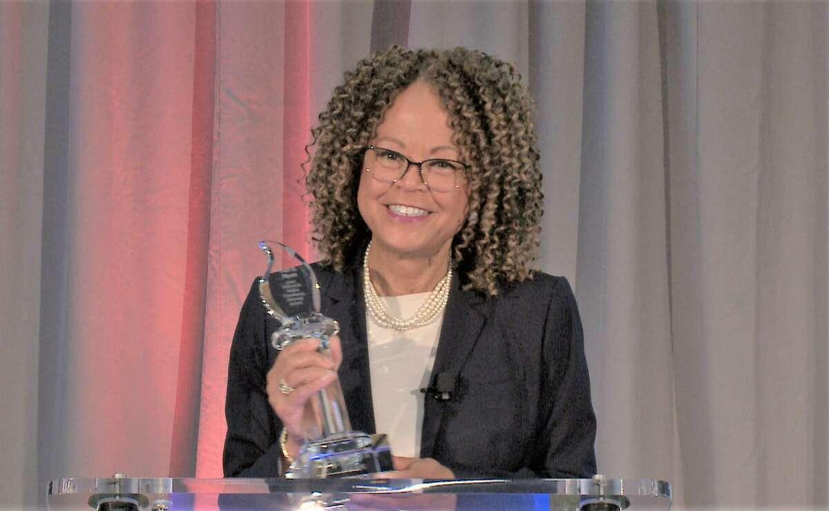 Gail Myatt of Branford received the 2020 Willard M. McRae Community Diversity Award from Liberty Bank of Middletown.