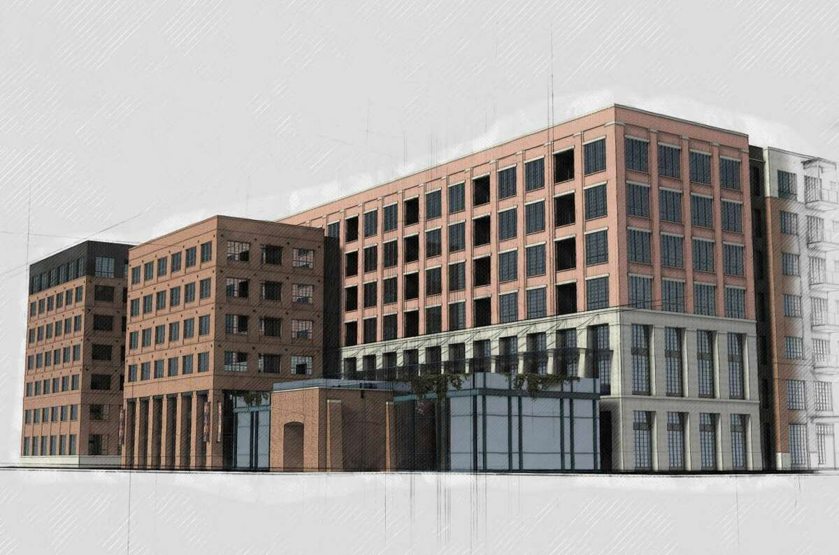 Renderings show a 265-unit apartment complex Silver Ventures is planning at 1126 E. Elmira St.