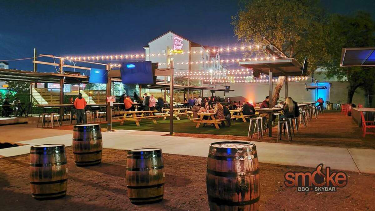 Smoke BBQ is now Smoke BBQ + Skybar, featuring a 12,000-square-foot outdoor bar that prominently features the downtown San Antonio skyline.