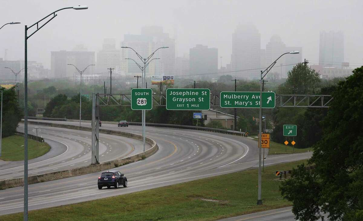 A lone vehicle drives along U.S. 281 last March, as the coronavirus crisis and, including emergency declarations, dramatically diminished traffic in and around San Antonio and other major Texas cities. Yet, traffic deaths statewide didn't decline near as steeply as multi-vehicle traffic accidents overall. The reason was speed.